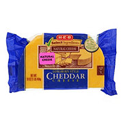 H-E-B Select Ingredients Cheddar Longhorn Style Cheese