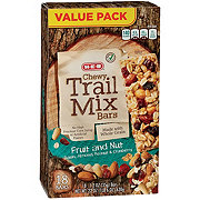 H-E-B Select Ingredients Chewy Trail Mix Bars, Fruit & Nut