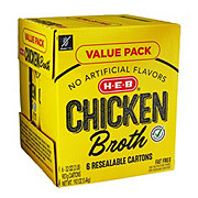 H-E-B Select Ingredients Chicken Broth Club Pack