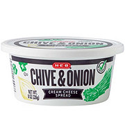 H-E-B Select Ingredients Chive & Onion Cream Cheese Spread