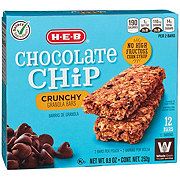 H-E-B Select Ingredients Chocolate Chip Crunchy Granola Bars