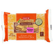 H-E-B Select Ingredients Colby and Monterey Jack Cheese