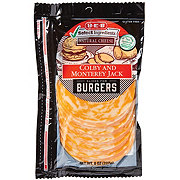 H-E-B Select Ingredients Colby and Monterey Jack Cheese, Burger Slices
