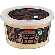 H-E-B Select Ingredients Copper Kettle Parmesan Grated Cheese