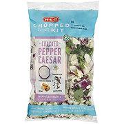 H-E-B Select Ingredients Cracked Pepper Caesar Chopped Salad Kit