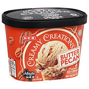 H-E-B Select Ingredients Creamy Creations Buttered Pecan Ice Cream