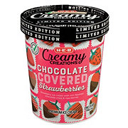 H-E-B Select Ingredients Creamy Creations Chocolate Covered Strawberries Ice Cream