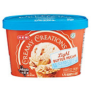 H-E-B Select Ingredients Creamy Creations Churned Light Butter Pecan Ice Cream
