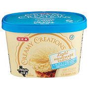H-E-B Select Ingredients Creamy Creations Churned Light Homemade Vanilla Ice Cream