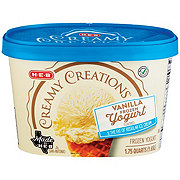 H-E-B Select Ingredients Creamy Creations Churned Vanilla Frozen Yogurt