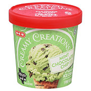 H-E-B Select Ingredients Creamy Creations Mint Chocolate Chip Ice Cream
