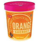 H-E-B Select Ingredients Creamy Creations Orange Sherbet