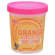 H-E-B Select Ingredients Creamy Creations Orange Swirl Cream Sherbet