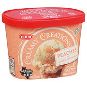 H-E-B Select Ingredients Creamy Creations Peaches & Homemade Vanilla Ice Cream