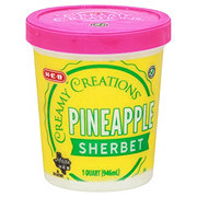 H-E-B Select Ingredients Creamy Creations Pineapple Sherbet