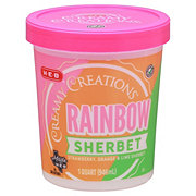 H-E-B Select Ingredients Creamy Creations Rainbow Sherbet
