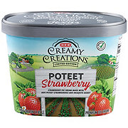 H-E-B Select Ingredients Creamy Creations Texas Seasons Poteet Strawberry Ice Cream
