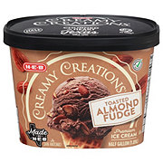 H-E-B Select Ingredients Creamy Creations Toasted Almond Fudge Ice Cream
