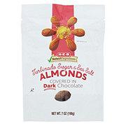 H-E-B Select Ingredients Dark Chocolate Turbinado Sea Salt Almonds