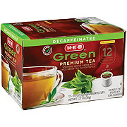 H-E-B Select Ingredients Decaf Green Premium Tea Single Cup