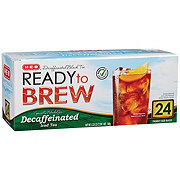 H-E-B Select Ingredients Decaffeinated Ready to Brew Family Size Iced Tea Bags