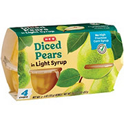 H-E-B Select Ingredients Diced Pears In Light Syrup