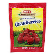 H-E-B Select Ingredients Dried Sweetened Cranberries