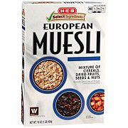 H-E-B Select Ingredients European Muesli Bircher Fruit Nuts & Seeds Cereal