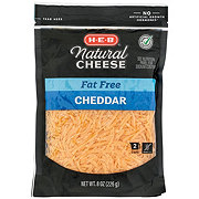 H-E-B Select Ingredients Fat Free Cheddar Cheese, Shredded