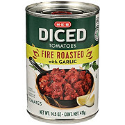 H-E-B Select Ingredients Fire Roasted Diced Tomatoes With Garlic
