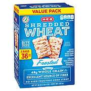 H-E-B Select Ingredients Frosted Shredded Wheat Value Pack