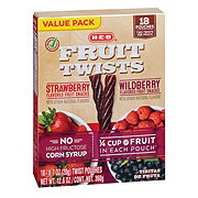 H-E-B Select Ingredients Fruit Twists Variety Value Pack