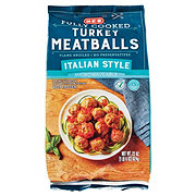 H-E-B Select Ingredients Fully Cooked Italian Style Turkey Meatballs