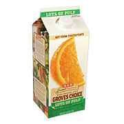 H-E-B Select Ingredients Groves Choice Lots of Pulp 100% Orange Juice