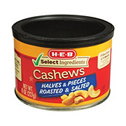 H-E-B Select Ingredients Halves & Pieces Roasted & Salted Cashews
