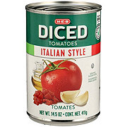 H-E-B Select Ingredients Italian Style Diced Tomatoes