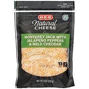 H-E-B Select Ingredients Jalapeno Jack and Mild Cheddar Fancy Shredded Cheese