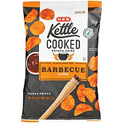H-E-B Select Ingredients Kettle Cooked Mesquite Barbeque Potato Chips