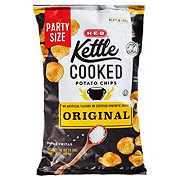 H-E-B Select Ingredients Kettle Cooked Original Potato Chips Family Size