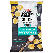 H-E-B Select Ingredients Kettle Cooked Reduced Fat Original Potato Chips