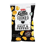 H-E-B Select Ingredients Kettle Cooked Salt & Pepper Potato Chips