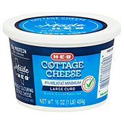 H-E-B Select Ingredients Large Curd Cottage Cheese