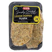 H-E-B Select Ingredients Lemon Pepper Encrusted Tilapia Fillets