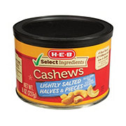 H-E-B Select Ingredients Lightly Salted Halves and Pieces Cashews