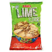 H-E-B Select Ingredients Lime Flavored White Corn Tortilla Chips