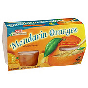 H-E-B Select Ingredients Mandarin Oranges In Light Syrup