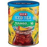 H-E-B Select Ingredients Mango Sugar Sweetened Iced Tea Mix