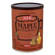 H-E-B Select Ingredients Maple Breakfast Medium Roast Ground Coffee