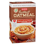 H-E-B Select Ingredients Maple & Brown Sugar Instant Oatmeal