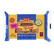 H-E-B Select Ingredients Medium Cheddar Cheese
